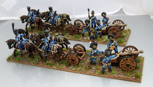 28mm Napoleonic Wurttemberg Horse Artillery. Painted by Michael  Heynen.