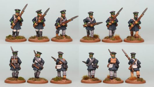 28mm Napoleonic Prussian Landwehr, pack PSNRPK14, painted by Richard Abbott as the 1st Westphalia Regiment.
