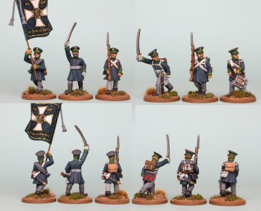 28mm Napoleonic Prussian Landwehr, pack PSNRPK15, painted by Richard Abbott as the 1st Westphalia Regiment.