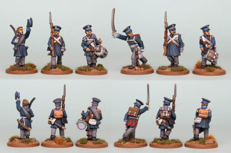 28mm Napoleonic Prussian Landwehr, pack PSNRPK16, painted by Richard Abbott as the 2nd Elbe Regiment .