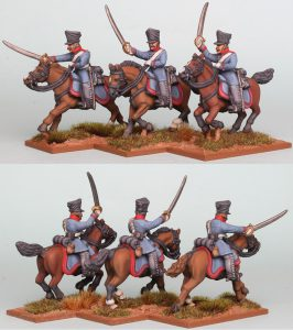 28mm Napoleonic Prussian Dragoons, pack PSNRPK22 painted as 1st (Queen's) Regiment painted by Richard Abbott
