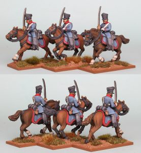28mm Napoleonic Prussian Dragoons, pack PSNRPK23 painted as 1st (Queen's) Regiment painted by Richard Abbott