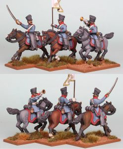 28mm Napoleonic Prussian Dragoons,pack PSNRPK24 painted as 1st (Queen's) Regiment painted by Richard Abbott