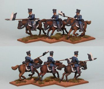 28mm Napoleonic Prussian Landwehr Cavalry, PSNRPK25 pack painted as Pomeranian Landwehr Cavalry, painted by Richard Abbott