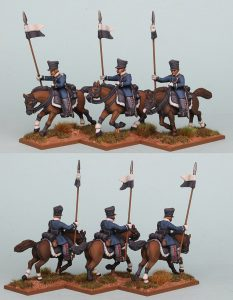 28mm Napoleonic Prussian Landwehr Cavalry, PSNRPK26 pack painted as Pomeranian Landwehr Cavalry, painted by Richard Abbott