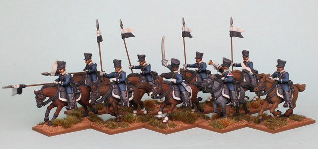 28mm Napoleonic Prussian Landwehr Cavalry painted as Pomeranian Landwehr Cavalry by Richard Abbott