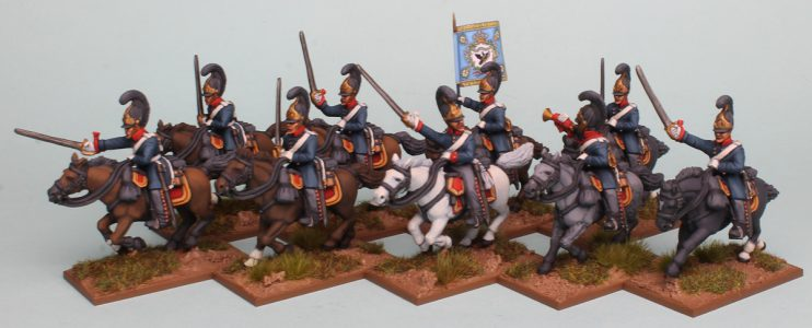28mm Napoleonic Prussian Cuirassiers painted as the 4th Brandenburg Cuirassier Regiment by Richard Abbott