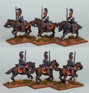 28mm Napoleonic Prussian Cuirassiers PSNRPK29 pack painted as the 4th Brandenburg Cuirassier Regiment, painted by Richard Abbott.