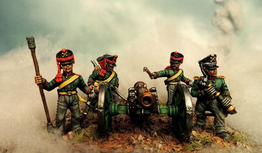28mm Napoleonic Russian Horse Artillery, painted & photographed by Francesco Thau.