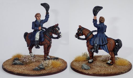28mm Napoleonic. The Duke of Wellington (BNP1 on S1/LT1A) painted & photographed by Billy Lummis.