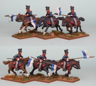 28mm Napoleonic Prussian Uhlans PSNRPK31 pack painted as the 1st West Prussian Uhlan Regiment, painted by Richard Abbott.