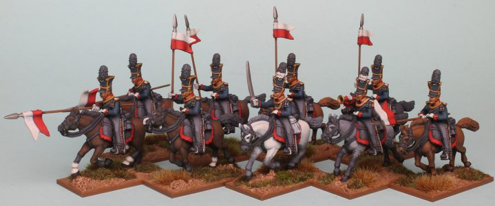 28mm Napoleonic Prussian Guard Uhlans, painted by Richard Abbott.
