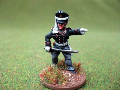 28mm Napoleonic Russian Infantry Officer. Painted by Colin from Charlie Foxtrot Models