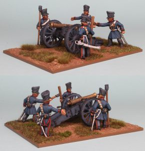 28mm Napoleonic Prussian Horse Artillery, 6 pound Gun & crew figures (PSNRPK41 & EQ106) painted by Richard Abbott.