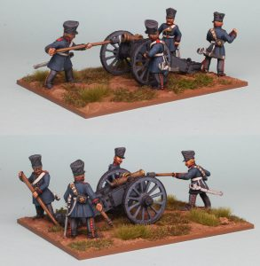 28mm Napoleonic Prussian Horse Artillery, 7 pound Howitzer & crew figures (PSNRPK42 & EQ107) painted by Richard Abbott.