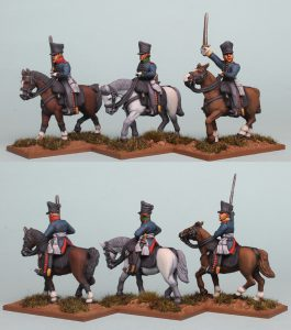28mm Napoleonic Prussian Mounted Senior Officers, pack PSNRPK43 painted by Richard Abbott.