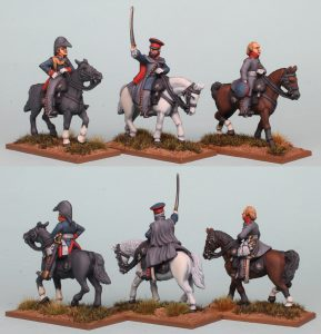 28mm Napoleonic Prussian Personalities ~ Von Gneisenau (left), Blucher (centre) & York (right). Pack PSNRPK44. Painted by Richard Abbott.