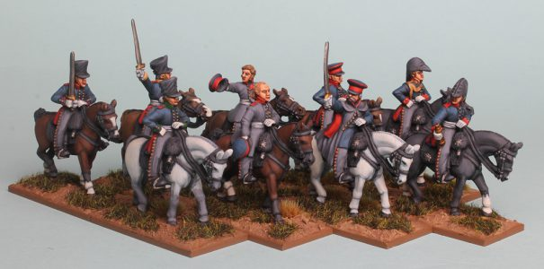 28mm Napoleonic Prussian Generals & Staff, a mix of packs PSNRPK43, 44 & 45. Painted by Richard Abbott.