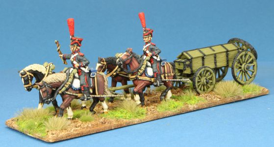Code EXDFN12 ~ 28mm Napoleonic French. Guard Artillery Caisson Set, painted by Steve Dyer. UNIT BID PRICE £60.00+
