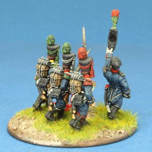 Code EXDFN7 ~ 28mm Napoleonic French. 4 x Light Infantry group, PRE 1806, painted by Ian Stables. UNIT BID PRICE £20.00+