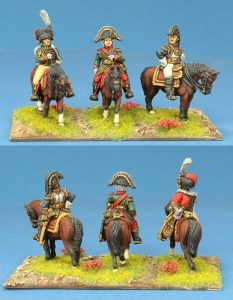 28mm Napoleonic French. ADC, Bessiers, Cuirassier General. Painted by Ian Stables.