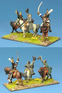 28mm Napoleonic French. Grouchy, Napoleon and Cuirassier General. Painted by Ian Stables.