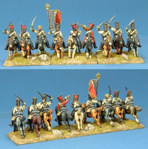 28mm Napoleonic French Hussars, painted by Kevin Dallimore