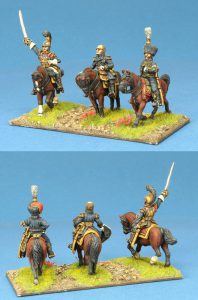 28mm Napoleonic French. Carabinier General, Davout, ADC. Painted by Ian Stables.