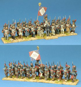 28mm Napoleonic French Old Guard, painted by Kevin Dallimore