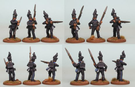 28mm Brunswick Reinforcement pack BWRPK3 Oels Jagers/Leib Battalion Firing Line (front and rear view) Painted by Richard Abbott