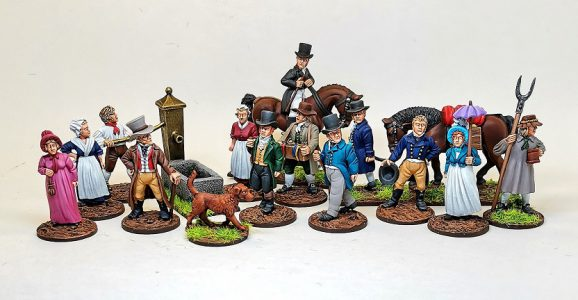 28mm Napoleonic Civilians packs painted by Grennady Stupin