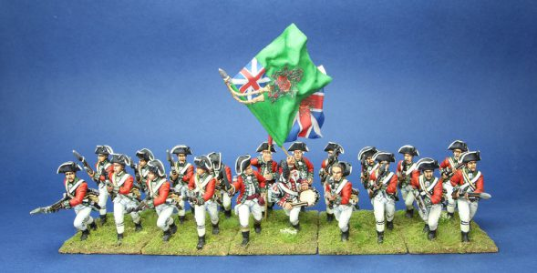 40mm AWI British 24th Foot. Flag by Jon Hutchinson.