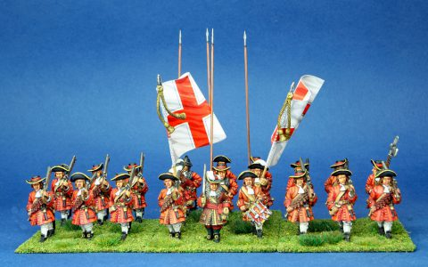 28mm Late 17th Century. Bellasis Regiment, painted by Phil Robinson, flags by warfare Miniatures