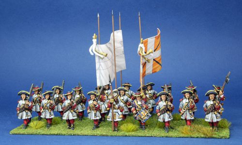 28mm Late 17th Century. French Regiment Forez. painted by Artmaster Studios, flags by Warfare Miniatures