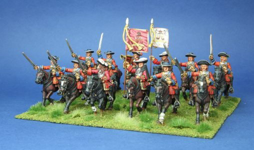 28mm Late 17th Century. James Life Guards. painted by Phil Robinson, Flags by Warfare Miniatures