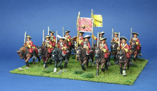 28mm Late 17th Century. Laniers Horse, painted by Phil Robinson, flags by Warfare Miniatures