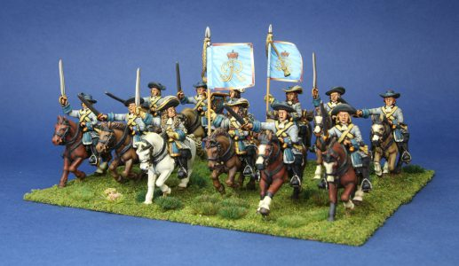 28mm Late 17th Century. Sutherlands Horse, painted by Artmaster Studios, flags by Warfare Miniatures