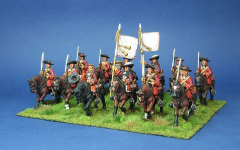 Late 17th Century. Villiers Horse, painted by Phil Robinson, flags by Warfare Miniatures