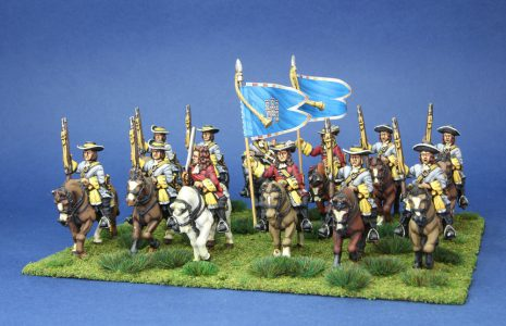 Late 17th Century. Wynnes Dragoons, painted by Artmaster studios, flags by Warfare Miniatures