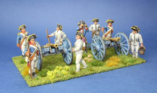 40mm AWI British 6lb artiillery. painted by Tony Runkee