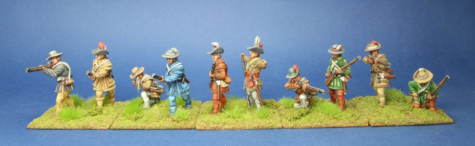 40mm AWI Continental Riflemen. painted by Tony Runkee