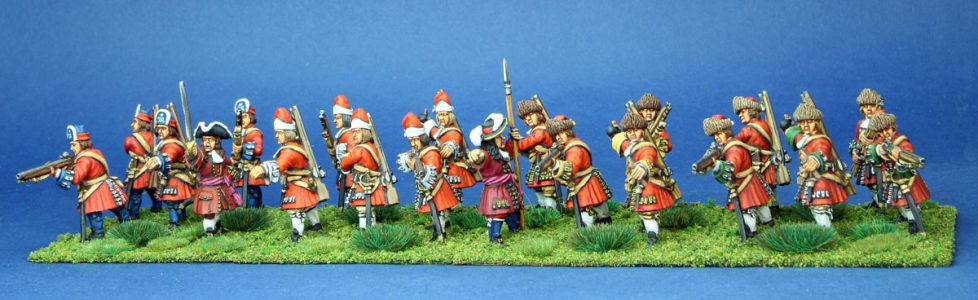 28mm Late 17th Century Grenadiers. painted by Phil Robinson
