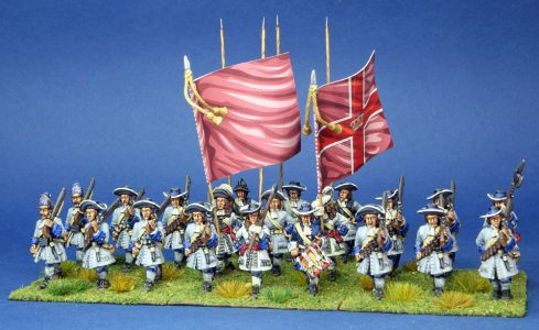 28mm Late 17th Century. Mitchelbounes Regiment,painted by Artmaster Studios, flags by warfare Miniatures
